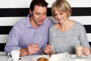 happy couples enjoying